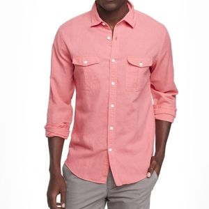 2/$25 NWOT express men's button down red heathered